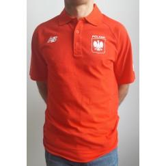 """Koszulka polo New Balance """"RAZ-em New York City Marathon"""" - czerwona"""